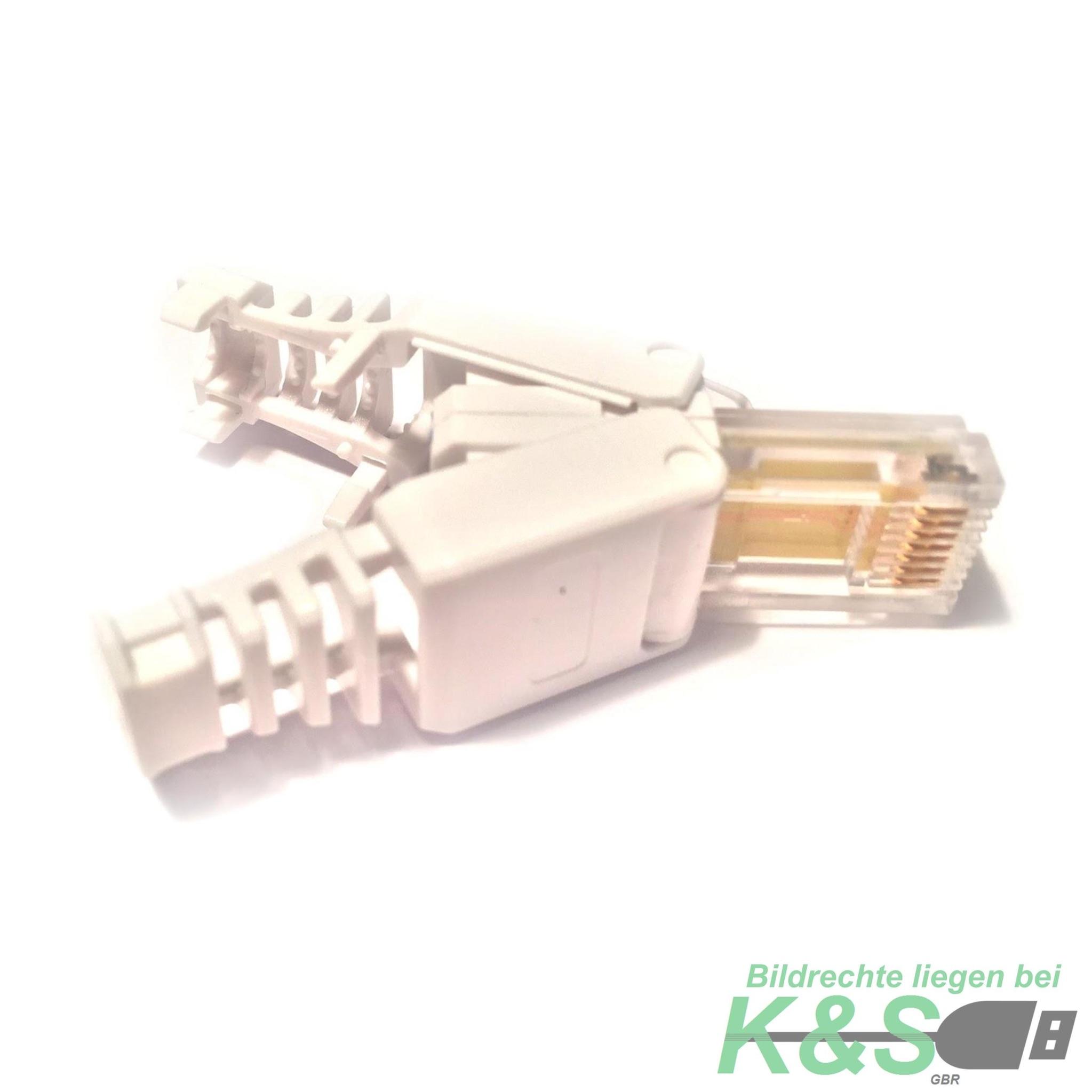rj45 netzwerkstecker ohne werkzeug cat6 lan utp kabel stecker werkzeuglos ebay. Black Bedroom Furniture Sets. Home Design Ideas