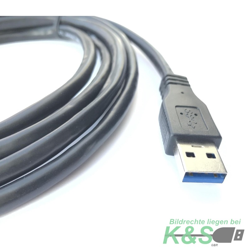 k s usb 3 0 kabel verl ngerung 2m verl ngerungskabel superspeed kabel 5 gbits ebay. Black Bedroom Furniture Sets. Home Design Ideas